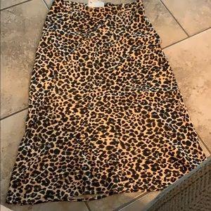 """Anthropologie"" leopard print long skirt size 8"
